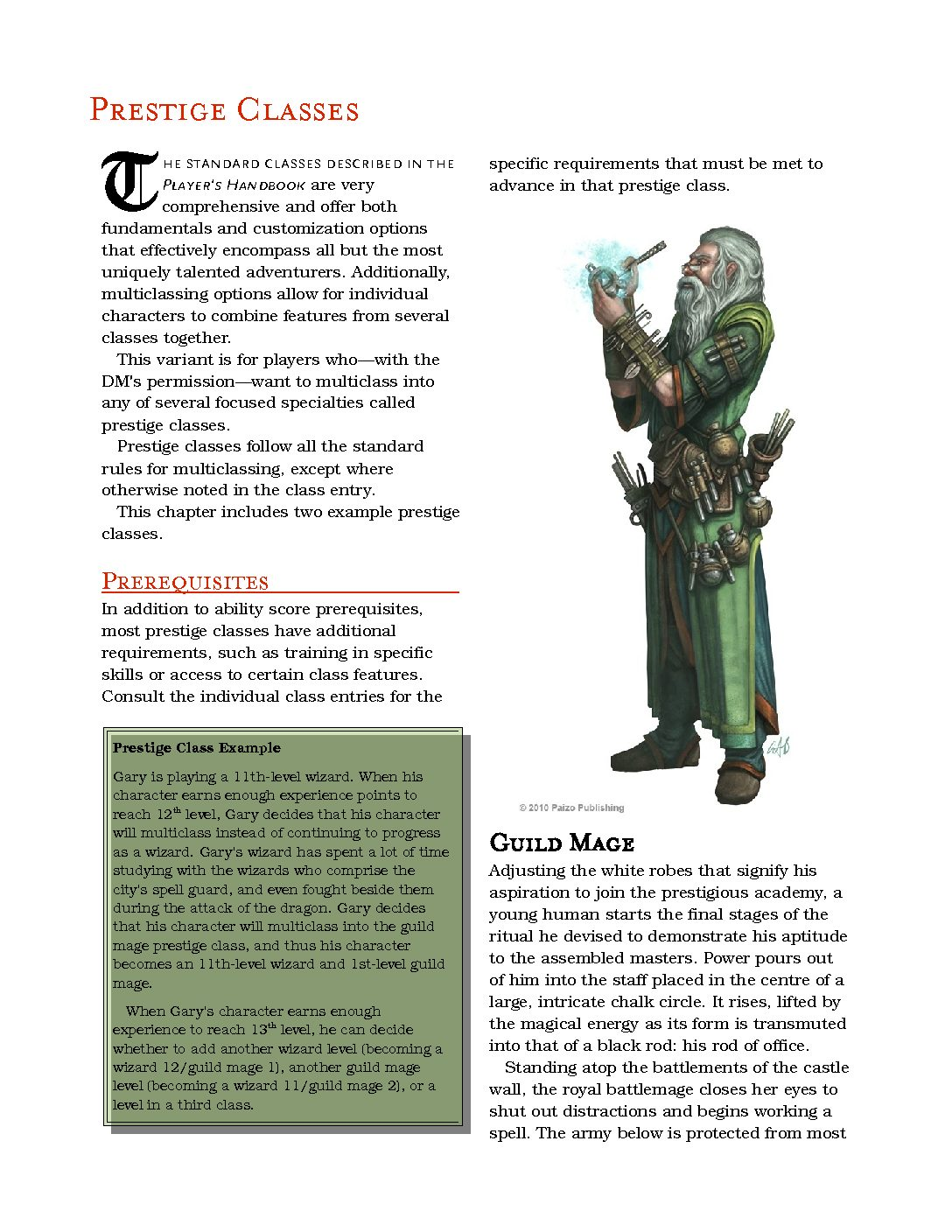 5E Prestige Classes – Dungeon Master's Workshop